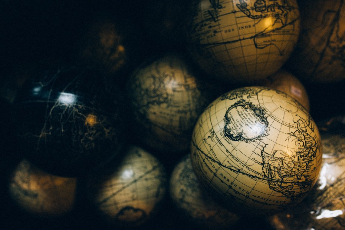 globes that show the earth is round