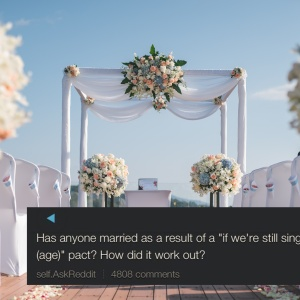 A Reddit User Asked If Anyone Had Gone Through With A Marriage Pact, But They Weren't Expecting This Man's Heartbreaking Response