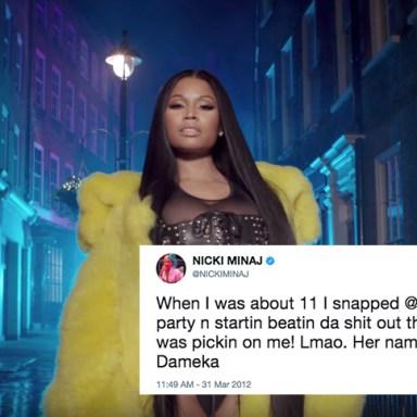 "Nicki Minaj in the music video for ""No Frauds"""
