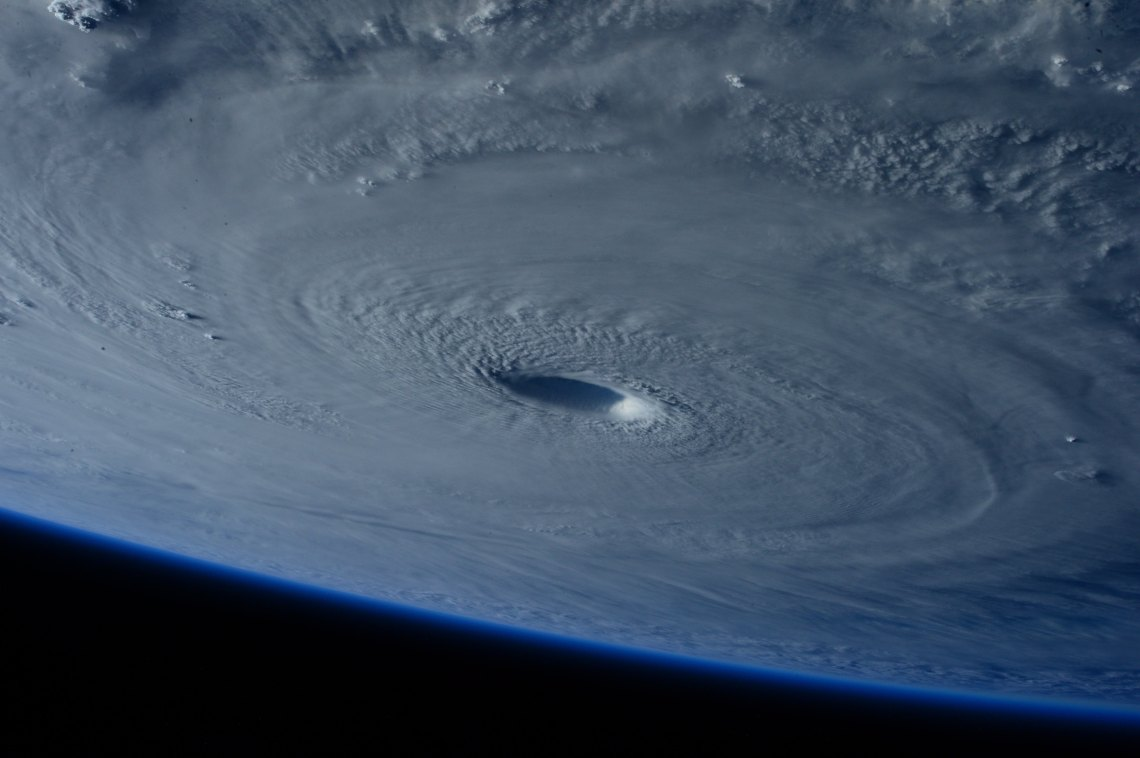 A hurricane captured by NASA