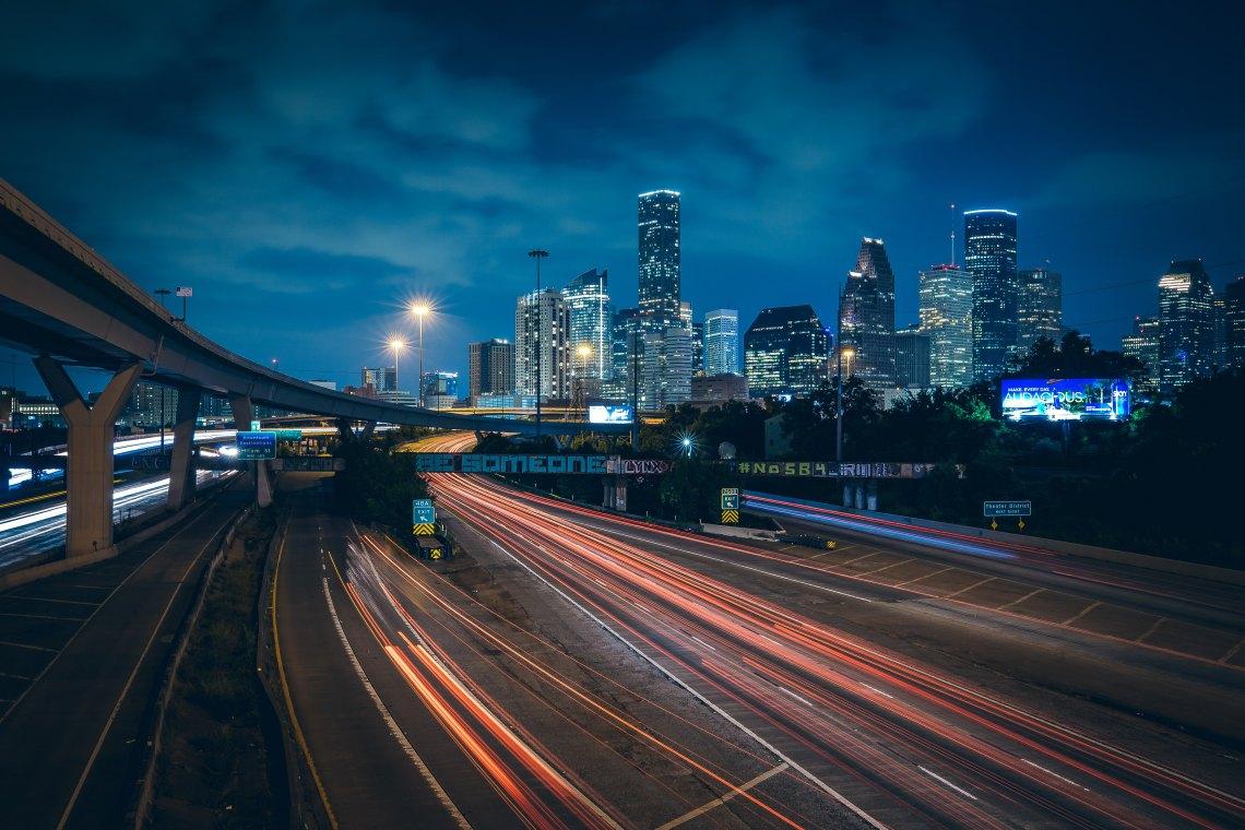 Houston skyline from afar