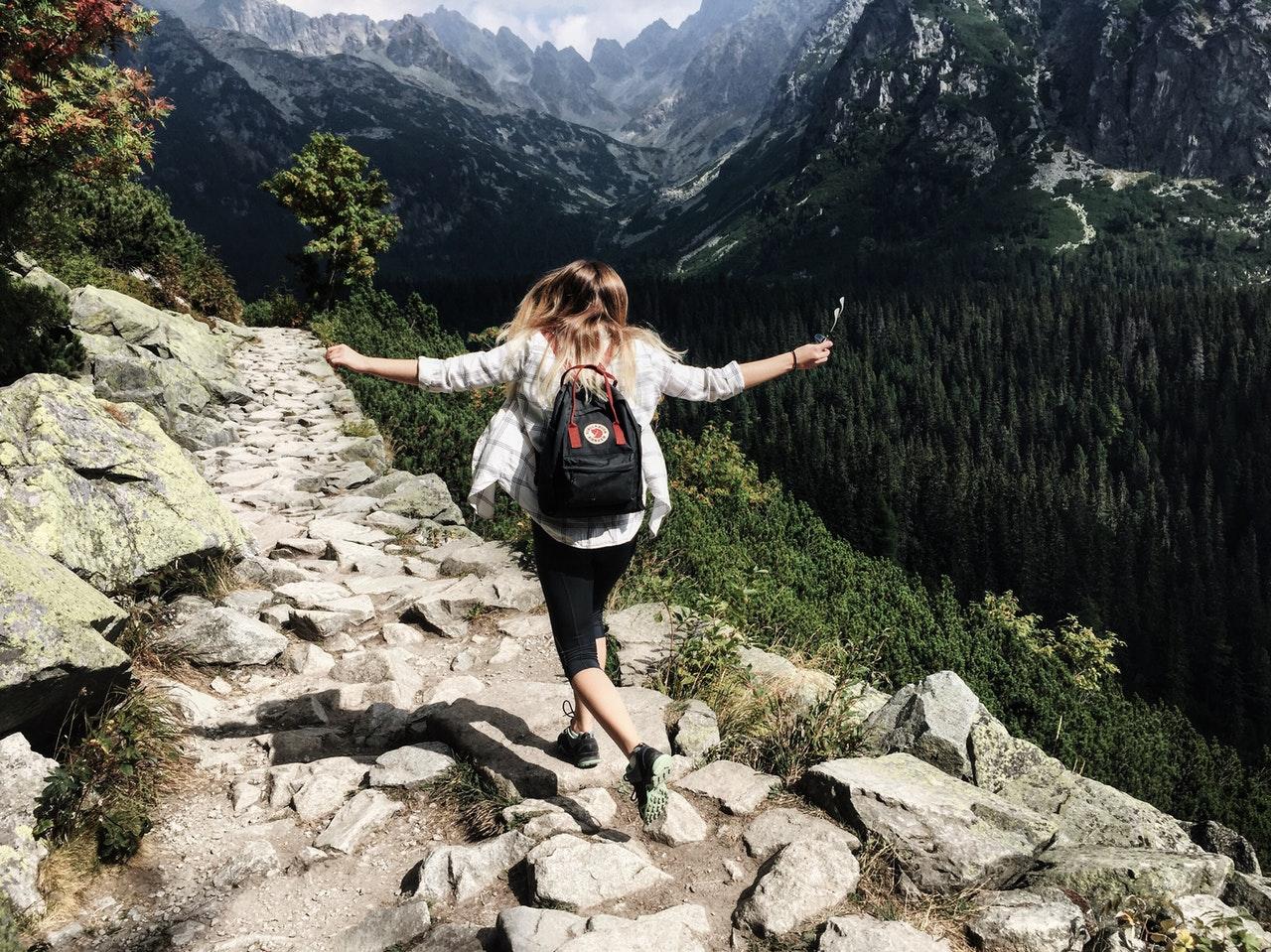 Girl on a volunteer trip
