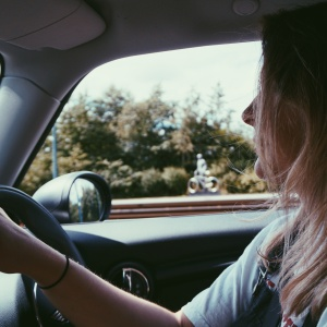 girl in a car, starting a new chapter, new start
