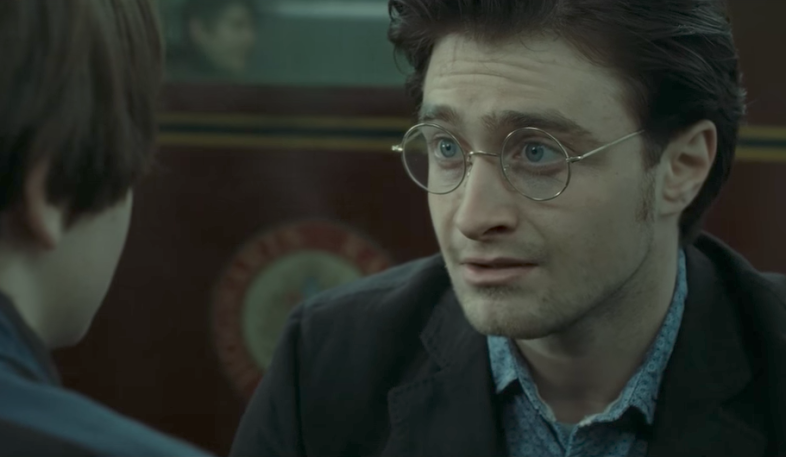 Danielle Radcliffe as Harry Potter in the epilogue scene of the last movie