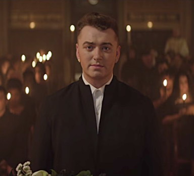 """Sam Smith in the music video for """"Lay Me Down"""""""