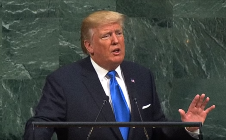Donald Trump's speaking at his UN Debut