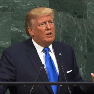 Donald Trump's speaking at his UN Debut