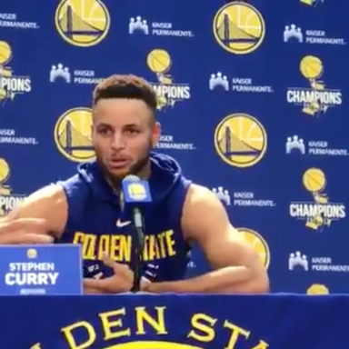 Steph Curry talking about Trump