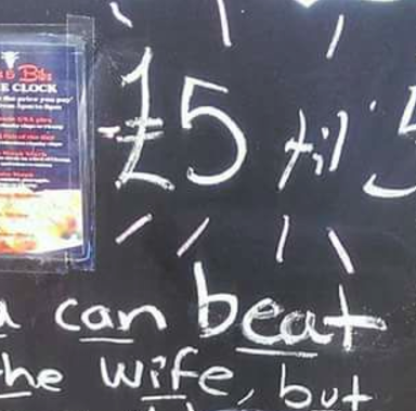 This Restaurant Joked About Beating Women On Its Bar Sign And People Are Understandably Pissed