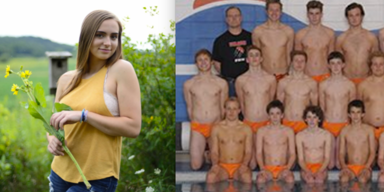 This Teen's Senior Photos Were 'Too Inappropriate' For Her School, But The Swim Team's SpeedosWeren't