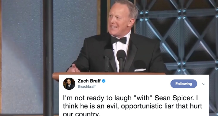 Sean Spicer Roasted Trump At The 2017 Emmys But People On Twitter Didn't Think It Was VeryFunny