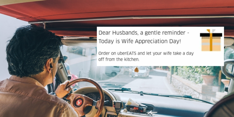 Uber Just Released This Sexist 'Wife Appreciation Day' Ad And People On Twitter Are Calling ThemOut