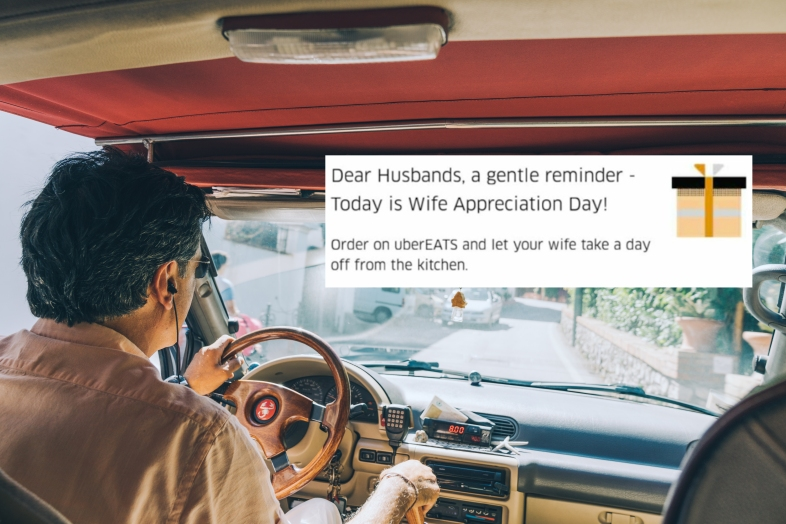 Uber driver in India sexist ad