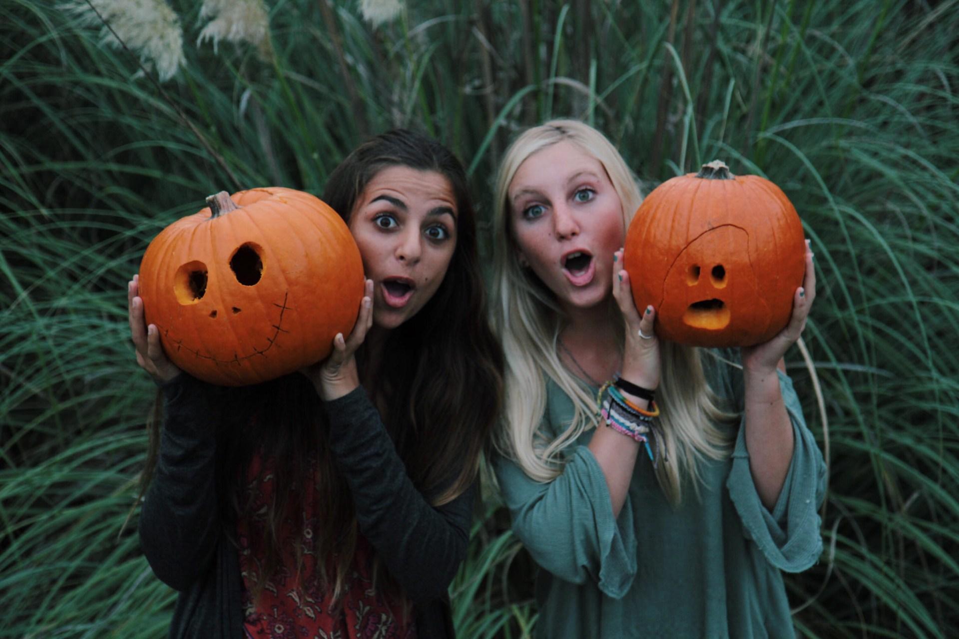 A girl who loves halloween