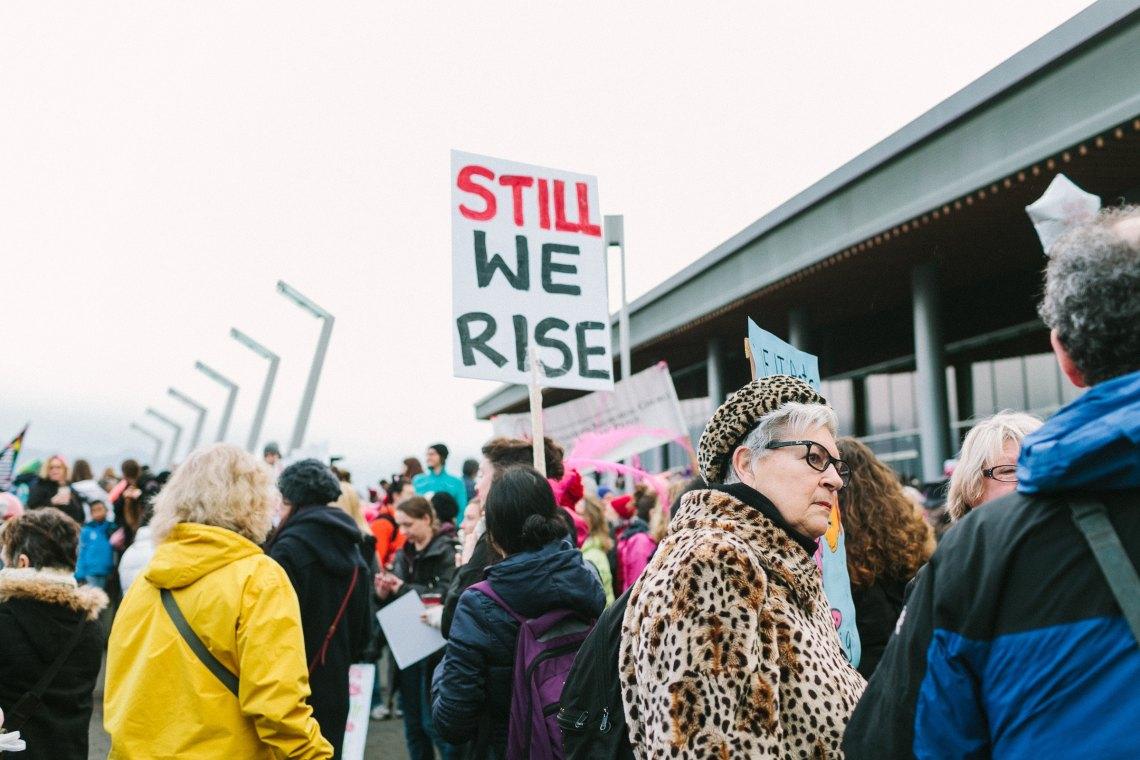 Millennial women at a protest