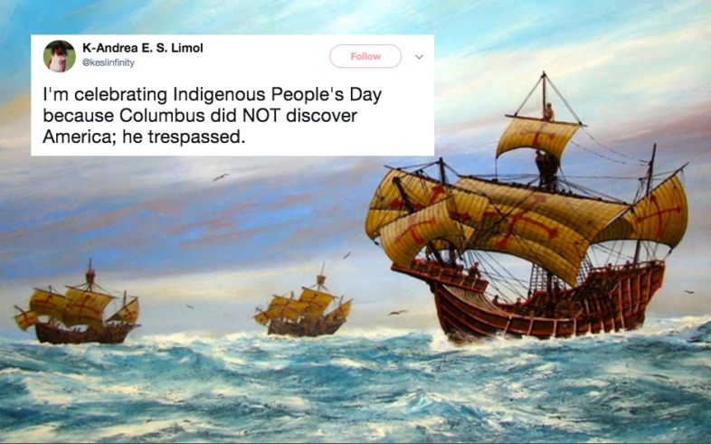 People argue on Twitter over Columbus Day