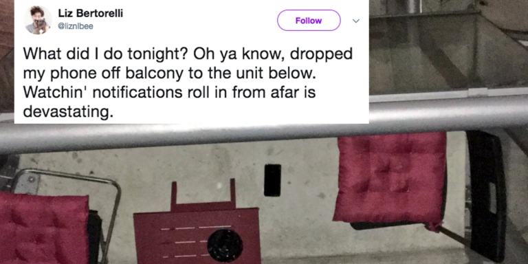 This Woman Dropped Her iPhone On Her Neighbor's Balcony And Live-Tweeted Her Wild Plan To Get ItBack