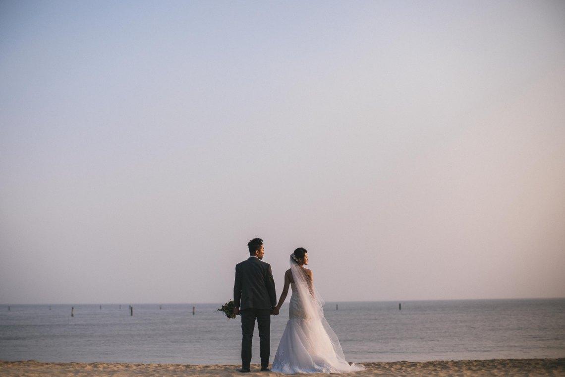 Married couple on beach