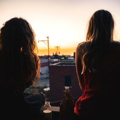 girls looking out at sunset, me too, sexual assault