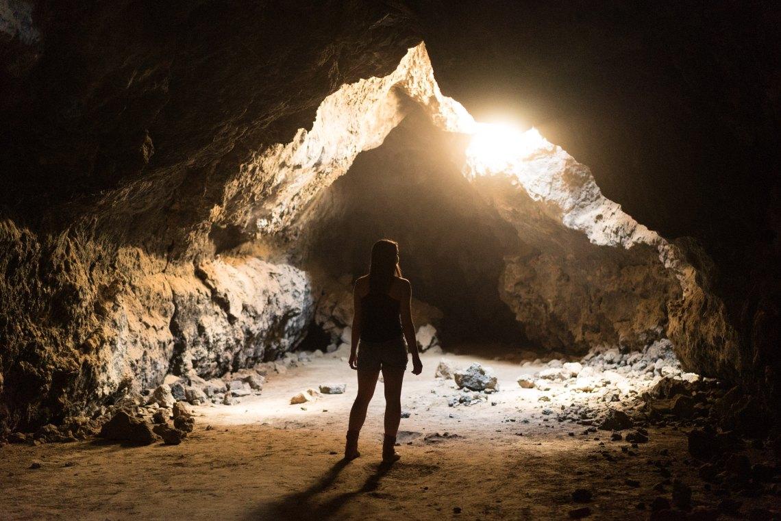 An underground cave