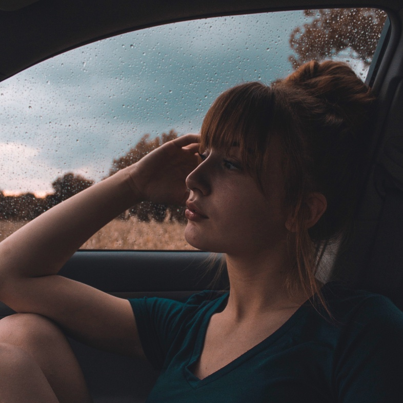 Girl thinking about the people who loved her