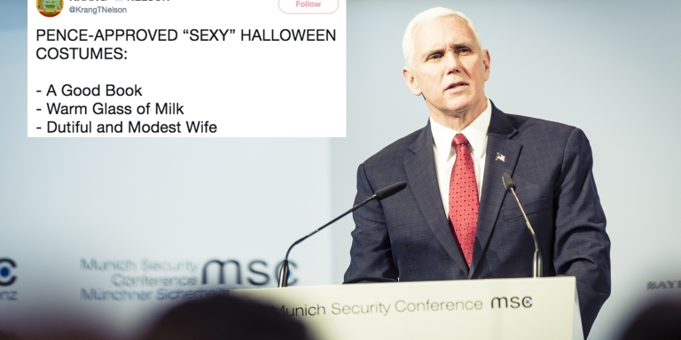 People Are Tweeting About 'Mike Pence-Approved Sexy Halloween Costumes' And They'll Make You Laugh Your Ass Off