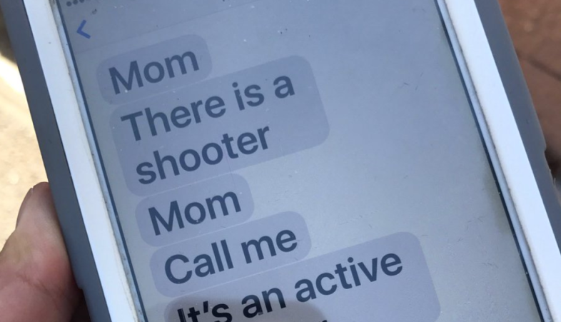 Messages a child sent her mother during the Las Vegas shooting