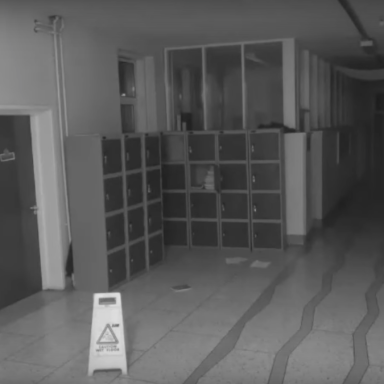 Screenshot from the CCTV video of the ghost at Deerpark