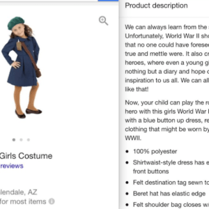 Someone Was Stupid Enough To Try To Sell An Anne Frank Halloween Costume And Now People Are Pissed