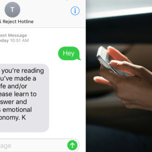 This New Hotline Will Text Back All The Fuckboys In Your Life So You Don't Have To