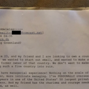 This Guy Drunkenly Wrote A Letter To Denmark Asking If He Could Have Greenland And They Actually Responded