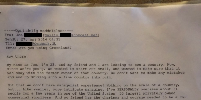 This Guy Drunkenly Wrote A Letter To Denmark Asking If He Could Have Greenland And They ActuallyResponded