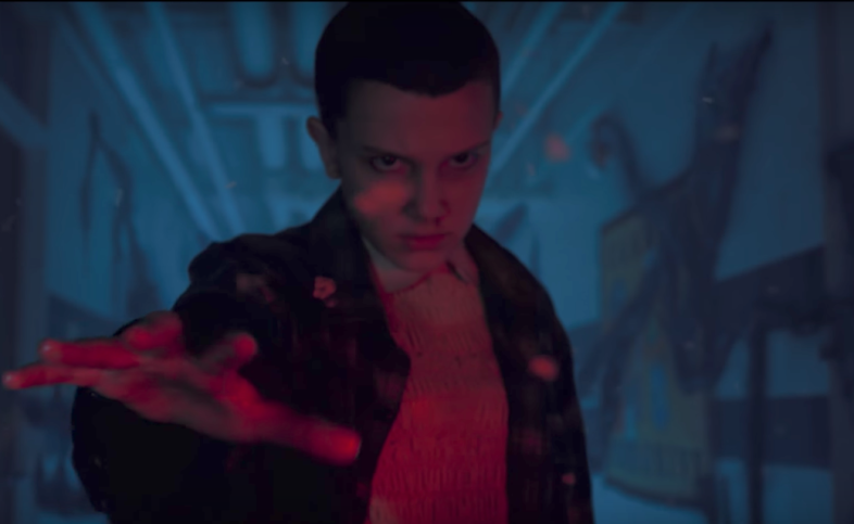 Eleven in the upside down on Stranger Things 2 sneak peek