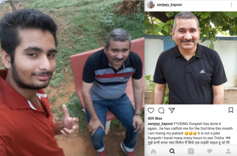 Sanjay keeps getting catfished by Durgesh, an older man