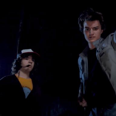 Dustin and Steven in Stranger Things 2