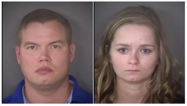Abusive parents James Chalkley and Cheyanne Chalkley mugshots