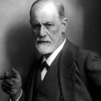 A famous picture of Sigmund Freud