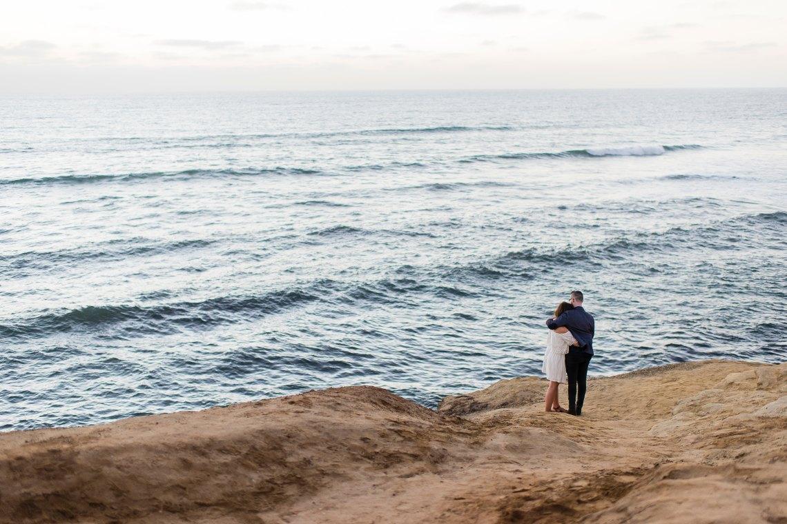 Couple in front of ocean