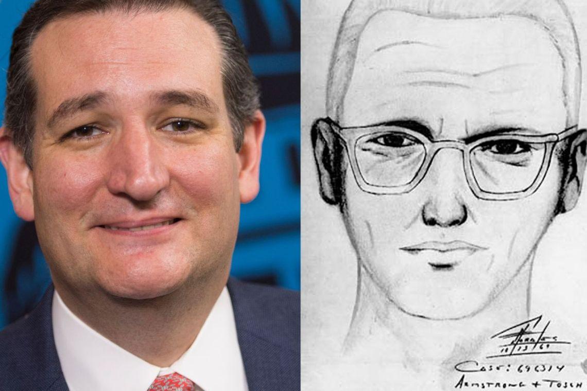 Ted Cruz as the Zodiac Killer