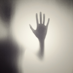 Creepy handprint