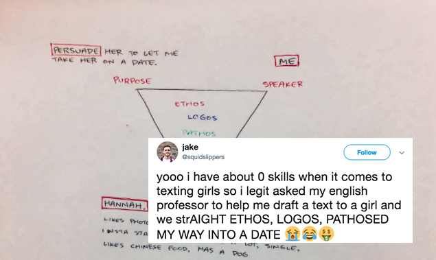 This Guy Didn't Know How To Ask His Crush Out So His English Professor Helped Him Draft The PerfectText