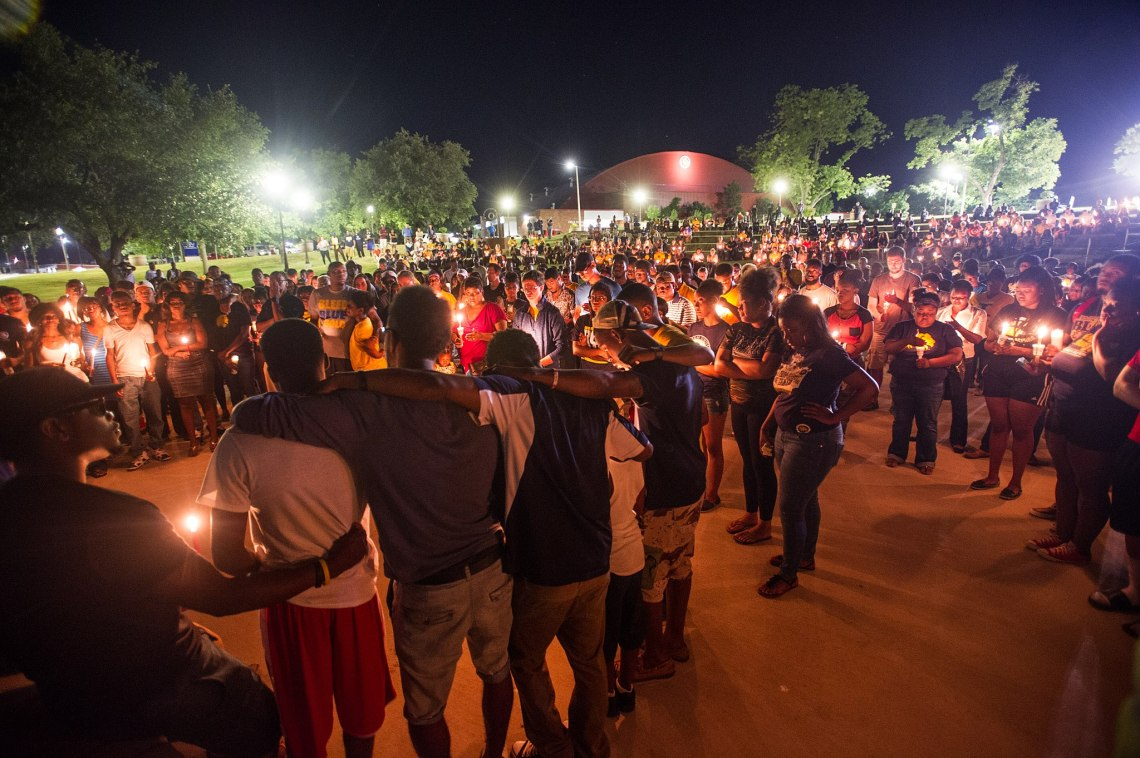 Candlelight Vigil In Texas For The Sutherland Springs Massacre