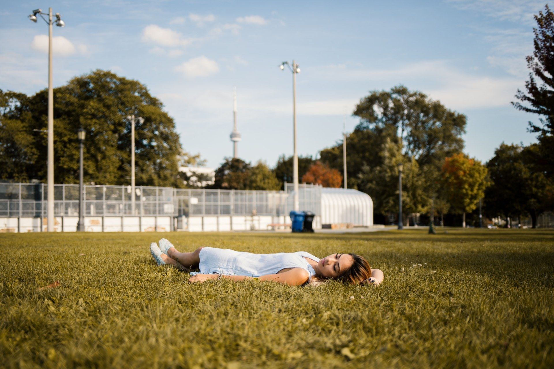 girl laying in grass field, anxious heart, prayers, prayers for the anxious heart