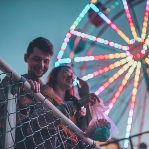 cute couple at carnival