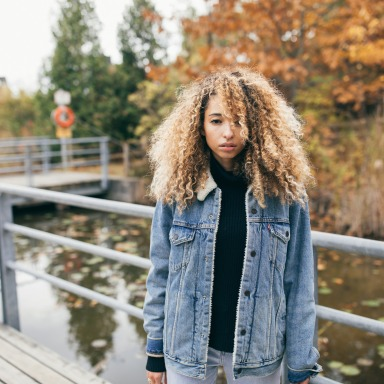 sad girl on bridge