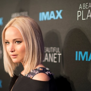 Jennifer Lawrence at A Beautiful Planet world premier