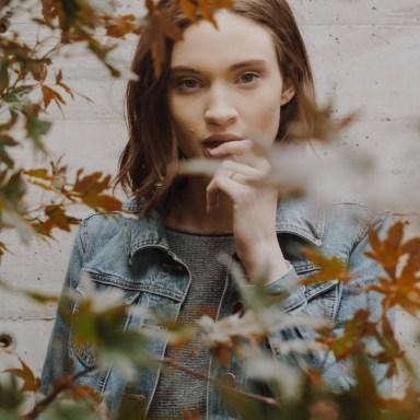 girl in leaves, bad habits, quitting destructive habits