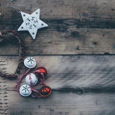 Christmas ornaments in the shape of a heart and a star