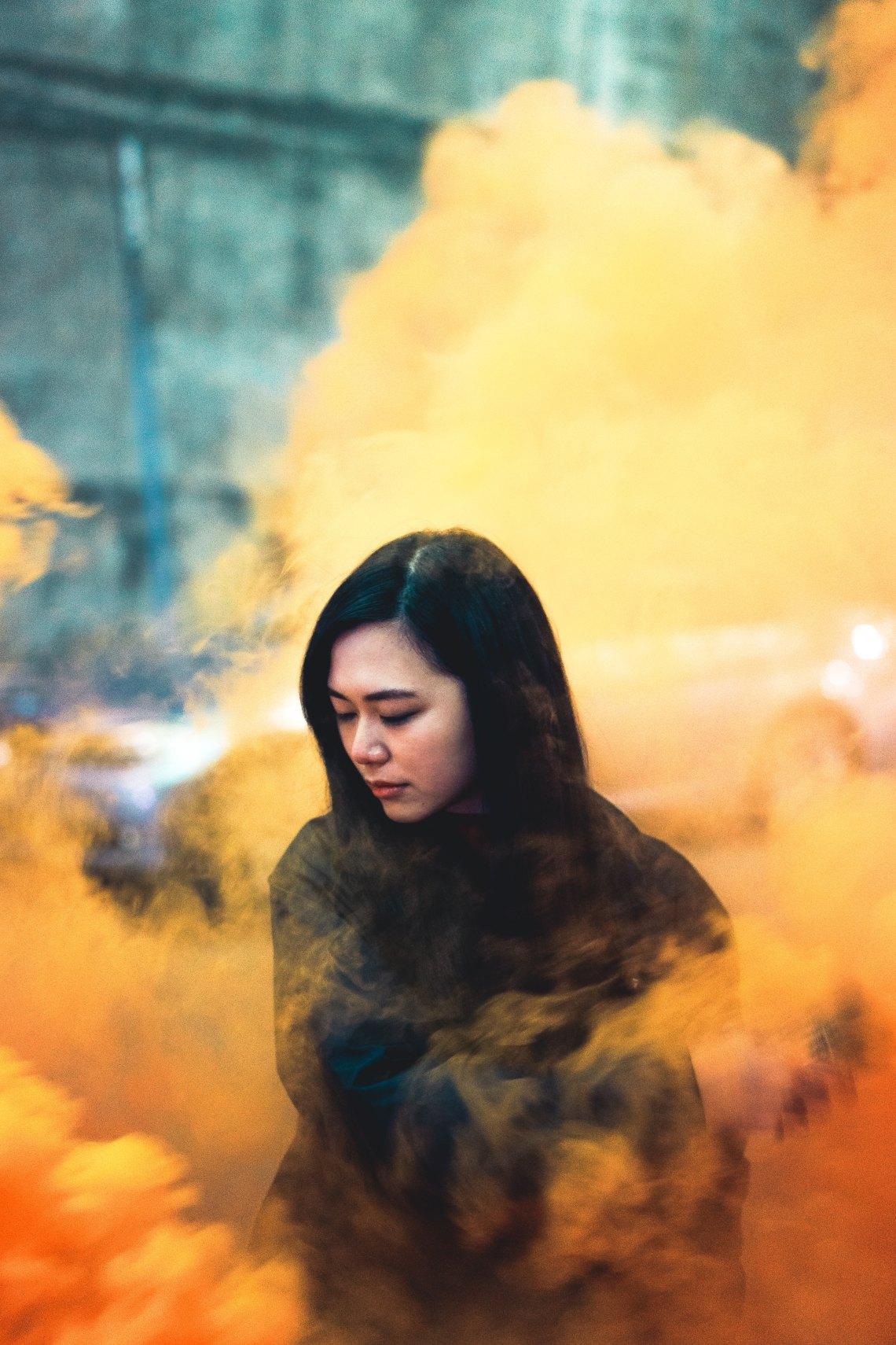 Girl Yellow Smoke