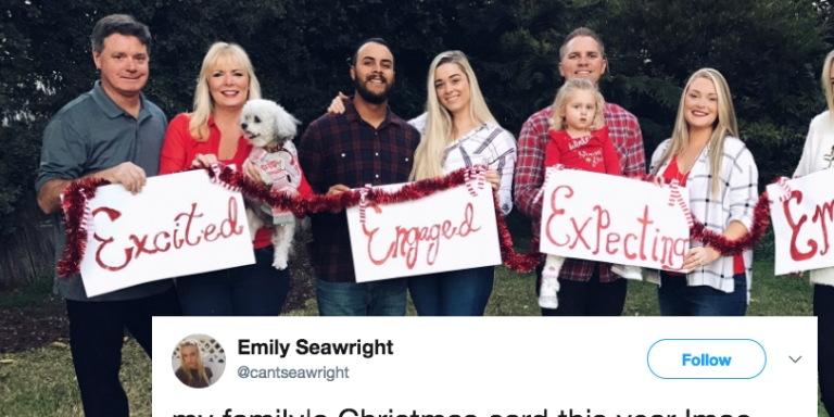 This Family's Hilarious Christmas Card Will Remind You How Single AF YouAre